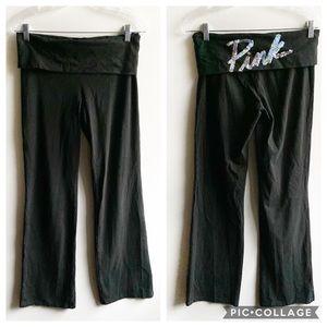 Victoria's Secret PINK yoga pant black embellished